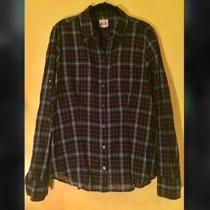 Converse One-Star Plaid Button-Down Shirt